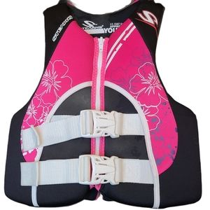 Stearns Pink and Black Youth Hydro Life Jacket
